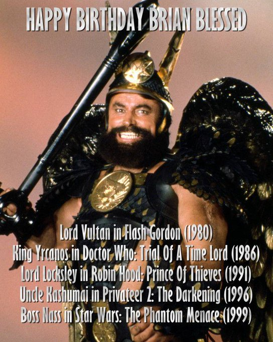 Happy Birthday Brian Blessed! His resume is like a Who\s Who of Geekery!