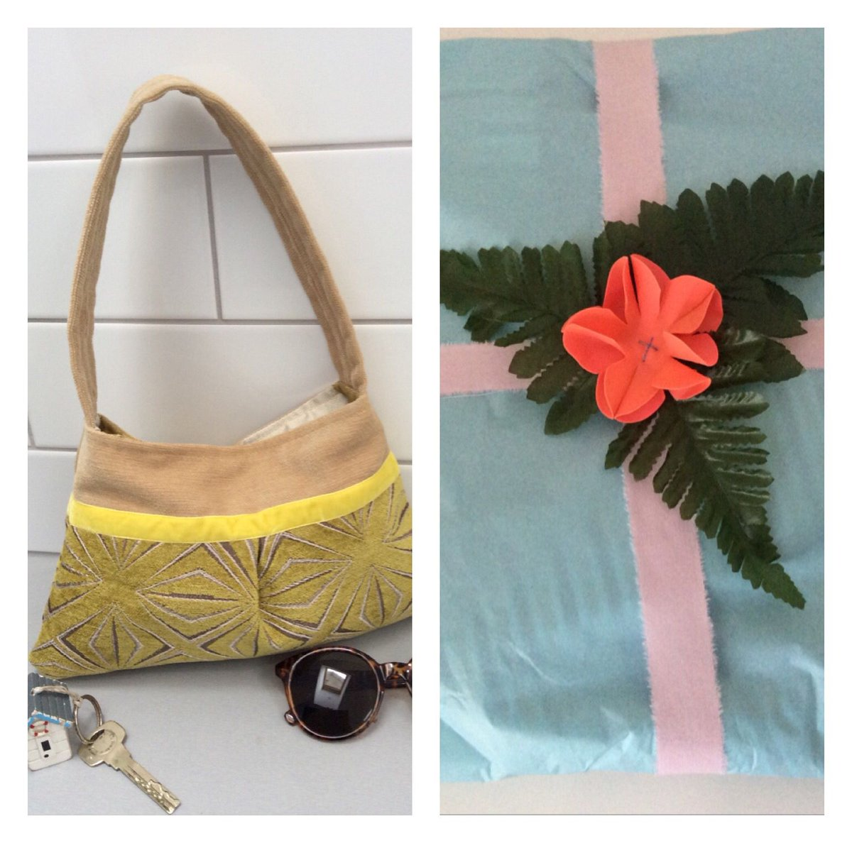 Samm Designs On Twitter Does Recycled Materials Gift Wrap Too Womaninbizhour Wnukrt Craftbuzz Ecofriendly Handbags Giftforher