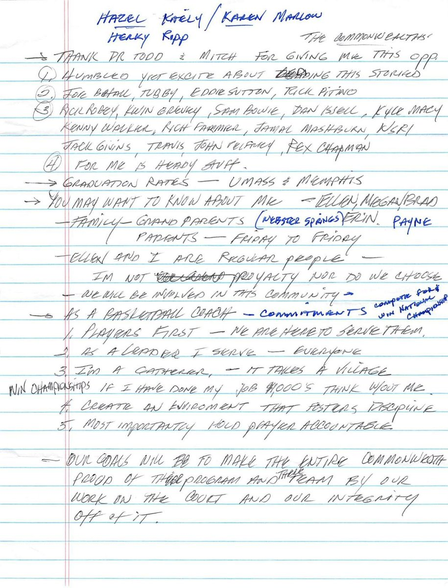 Notes from Calipari's First Presser