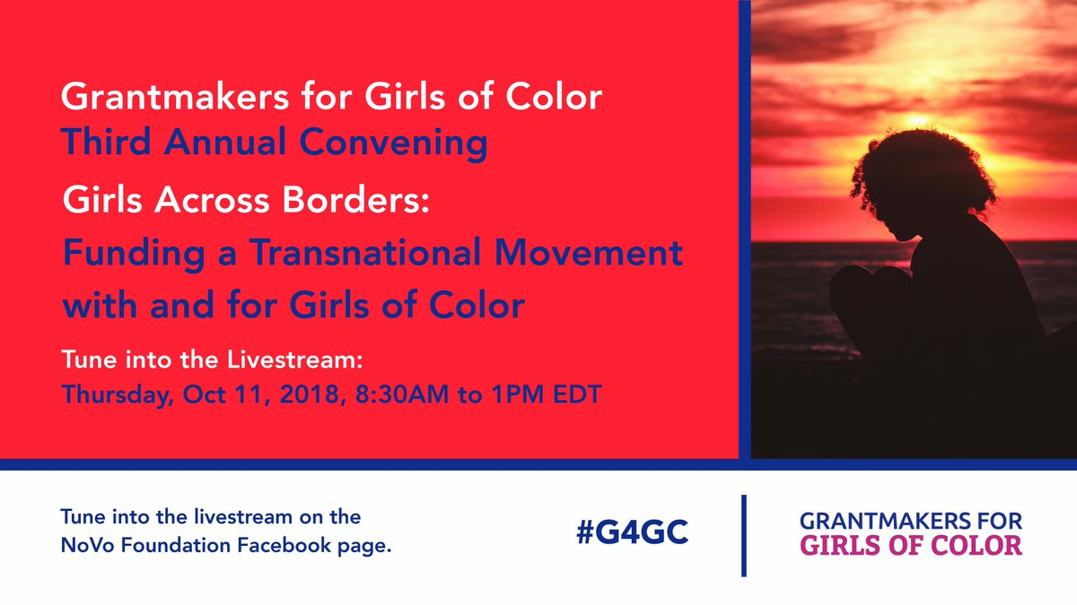 test Twitter Media - THURSDAY: Join Grantmakers for Girls of Color for our third annual #G4GC convening! Be a part of the vibrant movements to dismantle the barriers facing girls of color.  Watch LIVE from San Juan, Puerto Rico Thurs, Oct 11 on our FB page, 8:30 AM-1 PM EDT. https://t.co/lzObjlUPmE https://t.co/vYcT8JI32O