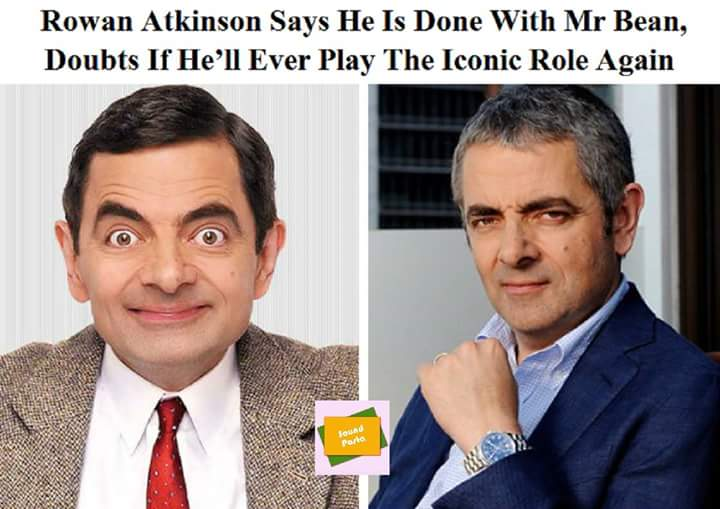 No more of #MrBean as actor #RowanAtkinson doubts he&#39;ll ever play the character again! :(  Thankfully we&#39;ll have episodes and seasons from the past. <br>http://pic.twitter.com/1fLd2Bj60m