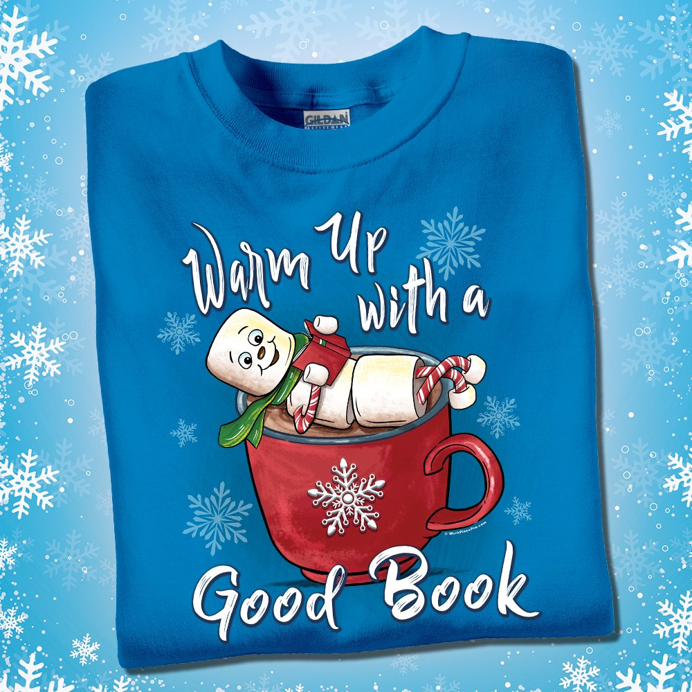 Warm up with a good book this winter! Reading shirts on sale now through 11/1!   https://t.co/k6zWAD5Uhr #warmupwithagoodbook #readingtshirts #libraries #workplacepro https://t.co/H0pMED5nzs