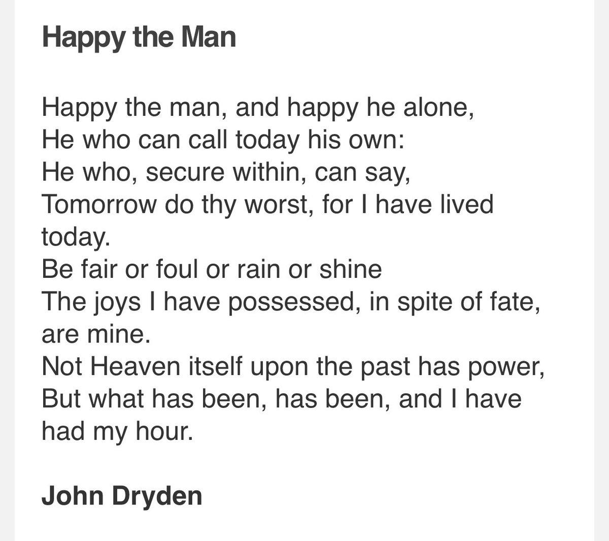 Rachel Kelly On Twitter Love This Poem By John Dryden It