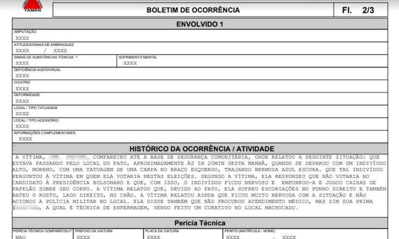 Mulher é agredida em BH por se negar a votar em Bolsonaro https://t.co/CPhkaNam3V