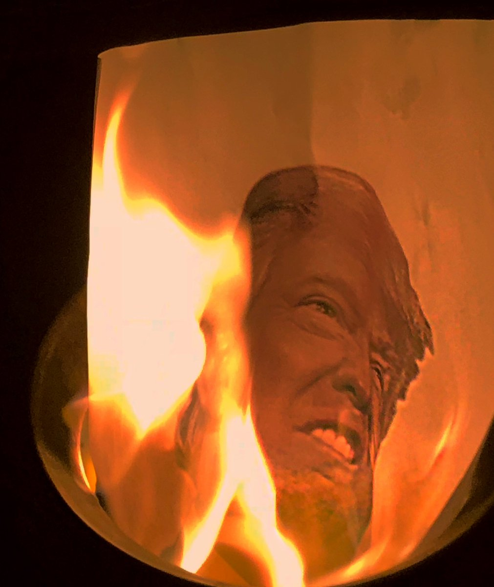 "Michael M. Bind Trump Hughes on Twitter: ""Depressed? Angry? Want to feel  better? Look at this picture of Donald Trump burning in hell from Saturday  night's #BindTrump ritual. See? Told ya you'd"