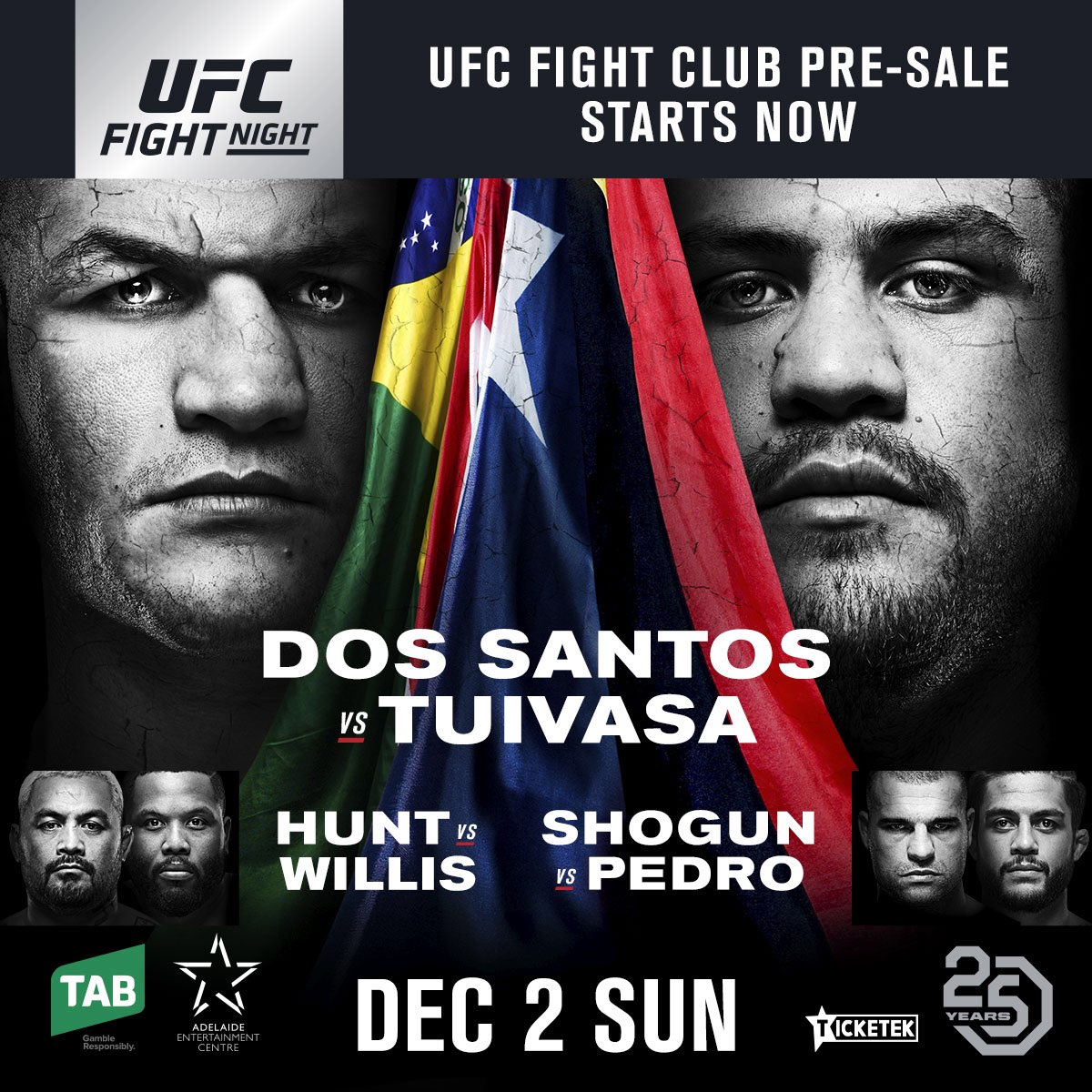 🚨 #UFCAdelaide 🎟🎟 available NOW to Fight Club members ➡️ bit.ly/2pIpLbq ⬅️