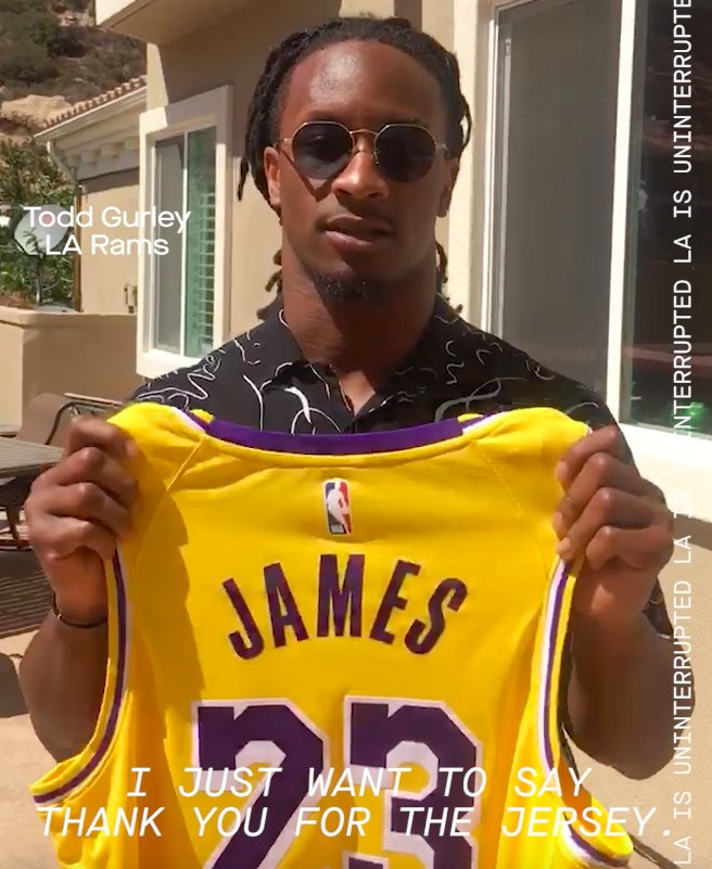 WATCH: L.A.'s star athletes welcome LeBron James