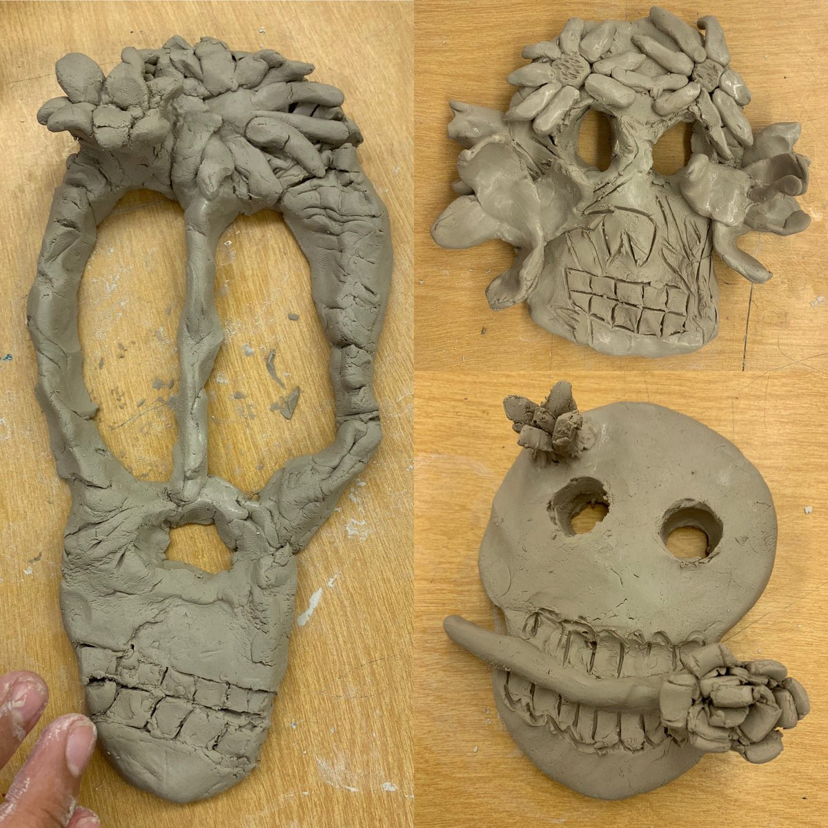 Beginning Students Are Hard At Work On Their Dia De Los Muertos Clay Skulls IronsCougars LubbockISDpictwitter HIacXdiEhE