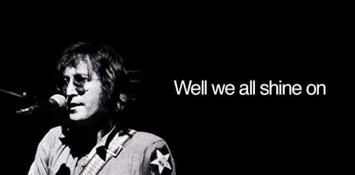 """You may say that I\m a dreamer. But I\m not the only one.\"" Happy birthday John Lennon"