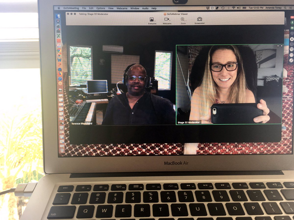 A divine experience today breaking into the film composing process of @T_Blanchard. We broke down his work on Spike Lee&#39;s BlacKkKlansman  and his upcoming work on Harriet Tubman. If you weren&#39;t in the @Stage32 webinar, holy crap did you miss out! Thanks T! Cheers! <br>http://pic.twitter.com/yTpg1M3gya