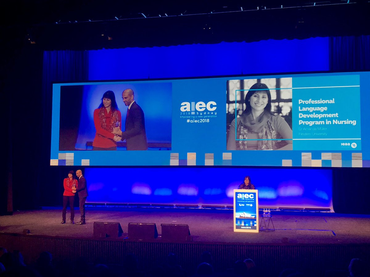 Following last weeks @Business_SA Export Awards win for @Flinders it's another win for us, this time at #aiec2018 - Dr Amanda Müller taking out the IEAA Excellence Award for Best Practise in International Education 2018 this morning. Congratulations Amanda! @Flinders<br>http://pic.twitter.com/C3oE8bcS2x