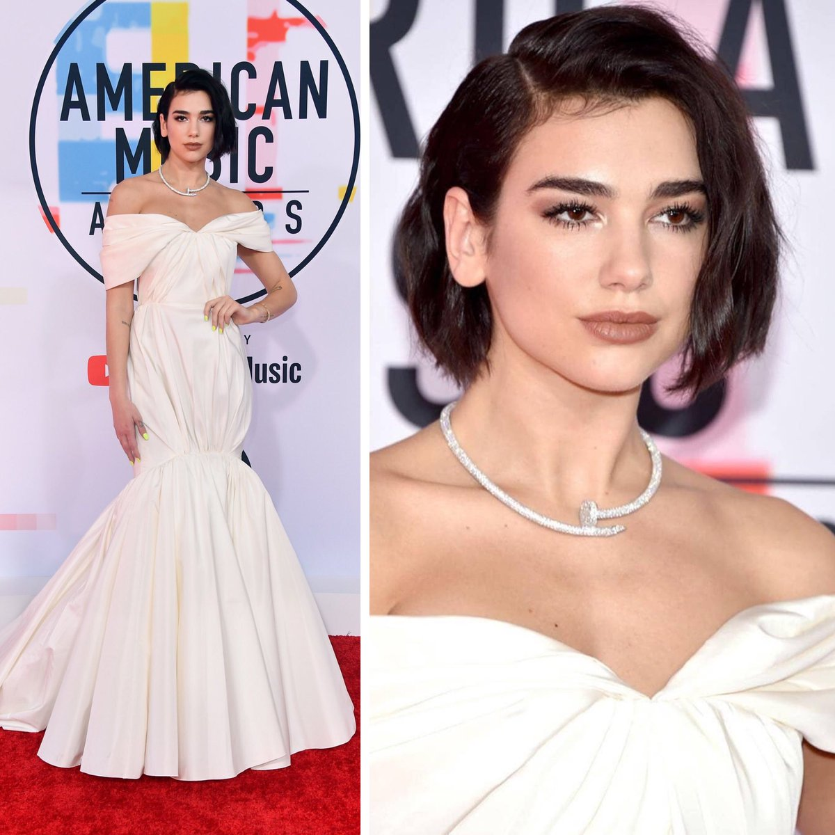 OMG could our #Z100JingleBall artist #DuaLipa look any more perfect at the #AMAs 😍💯🔥