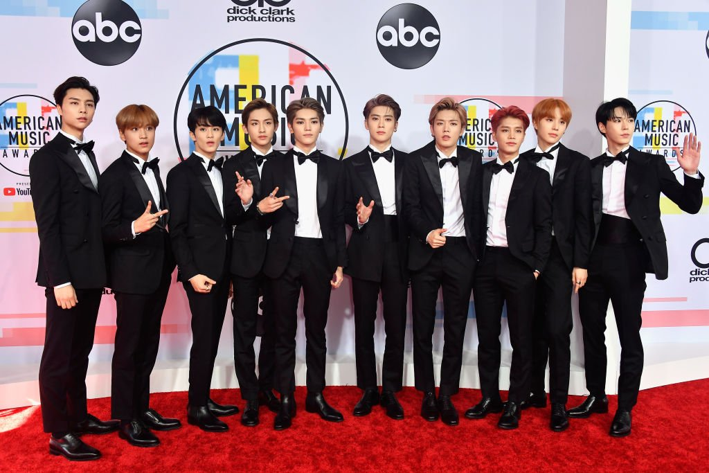.@NCTsmtown_127 just hit the #AMAs red carpet! #NCT127 #KPOP (Pic: @GettyImages)