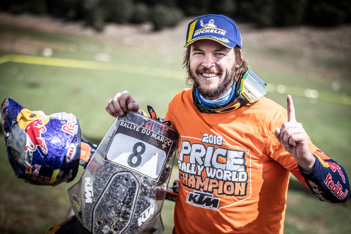 Congrats to @tobyprice87 who won the @MarocRallye and claimed 2018 FIM Cross-Country Rallies World Championship title   #MarocRallye18 #RallyRaid <br>http://pic.twitter.com/LG2O5iCSvN