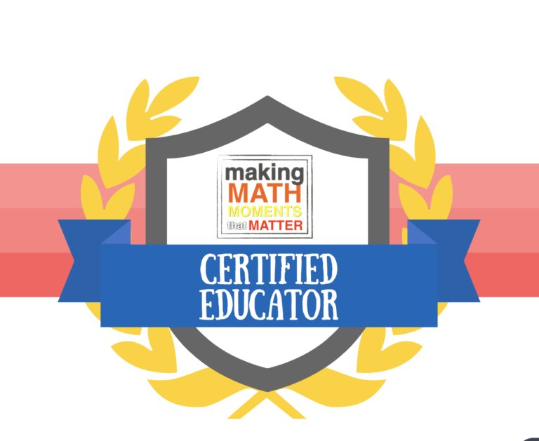It's Official! I'm a @MakeMathMoments Certified Educator! #MTBoS #iteachmath This course ha… https://t.co/I3MIPC9BCf
