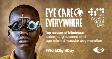 Tomorrow is #WorldSightDay! #Doyouknow the top causes of blindness in the world? #Cataract, #Glaucoma and #AMD<br>http://pic.twitter.com/RprRZg3tNh