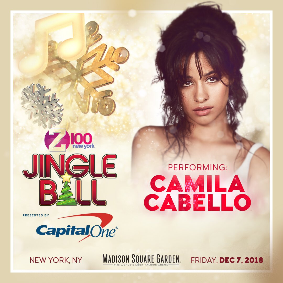 Shoutout to our #Z100JingleBall artist @Camila_Cabello for winning New Artist Of The Year at the #AMAs 😘