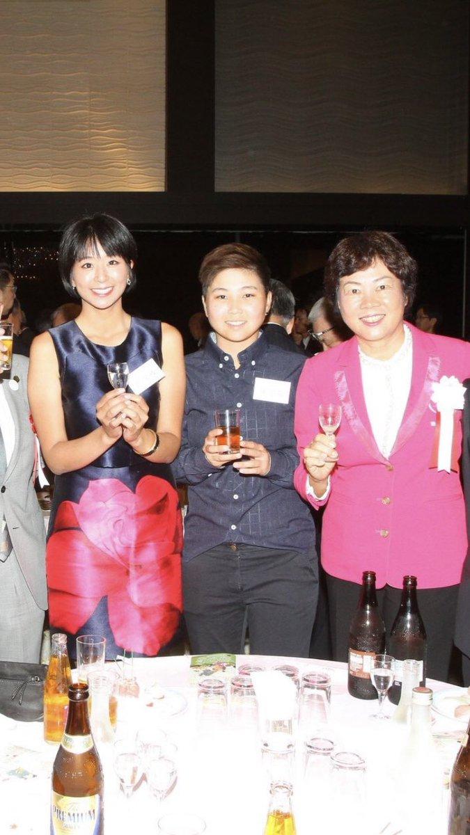 脇元華さん、郭艾榛さん今週末開催の日台交流うどん県レディースに出場する脇元さんとクォアイチェンさん。 昨夜の前夜祭では、  このお二人が主役だったようですね。
