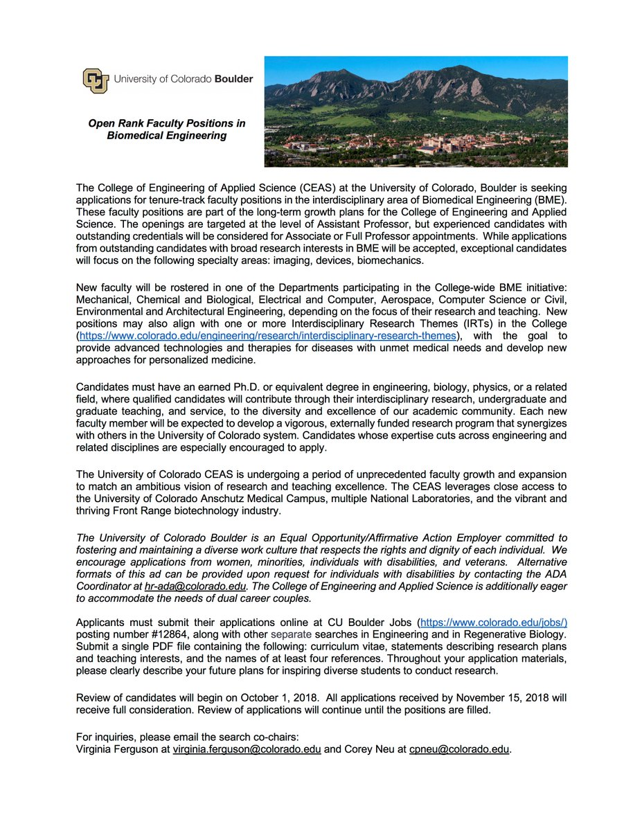 Outstanding scientific/biotech community, wonderful quality of life in  @bouldercolorado. Pass on to interested colleagues.
