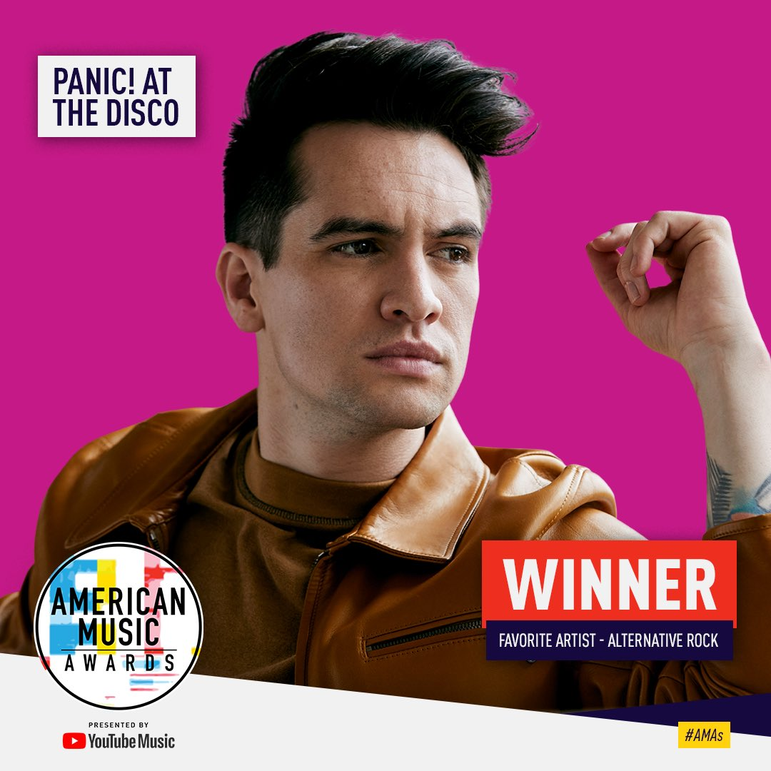 What a win! Thank you to everyone who voted for us as Favorite Artist Alternative Rock at the @AMAs ❤️ love you. https://t.co/wwTGFsYVRo