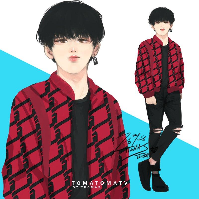 🌇Happy National Day!! Try to draw NY style ByeongKwan🖌️ Jacket look like Red velvet tiger cake!! - NewYork ByeongKwan #YungY #ACE #에이스 #김병관 #병관 #金柄官 #KimByeongKwan #ByeongKwan @official_ACE7 #kpopfanart