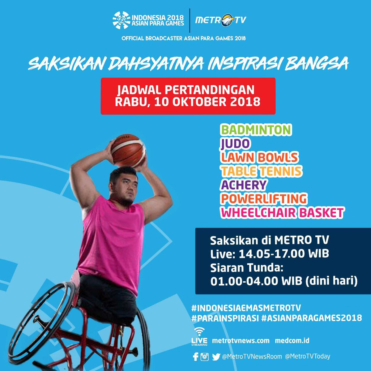 Asian Para Games 2018 cabor Basket Kursi Roda