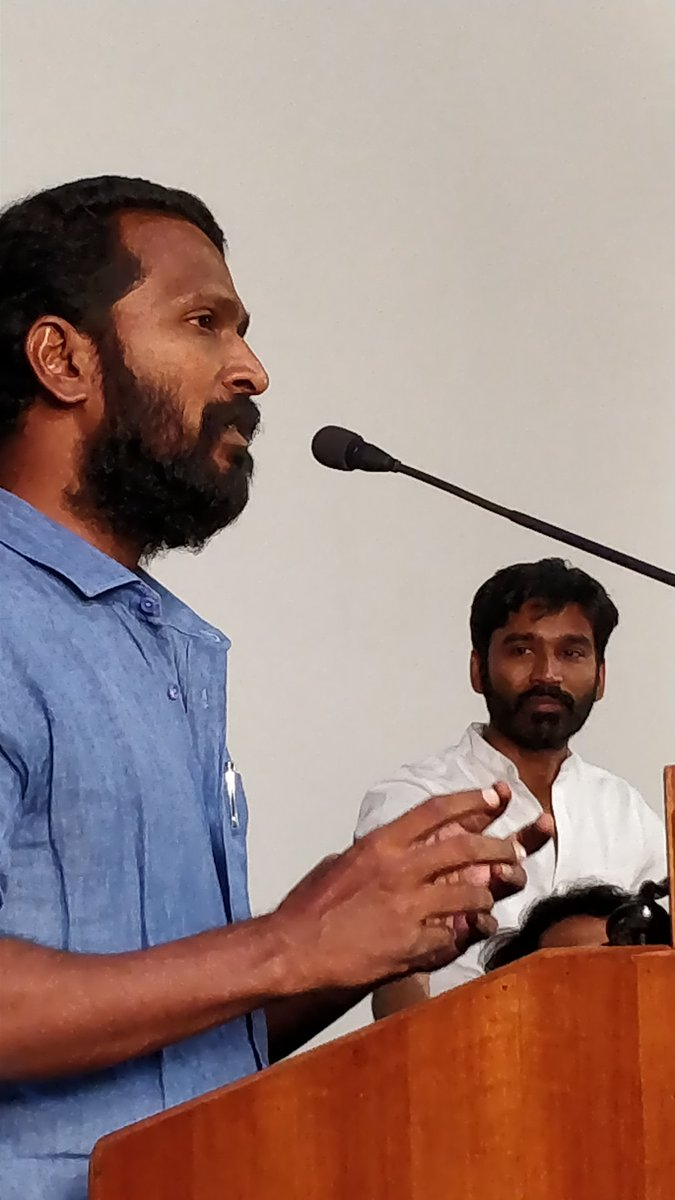 Dhanush and Vetrimaaran at Vada Chennai press meet