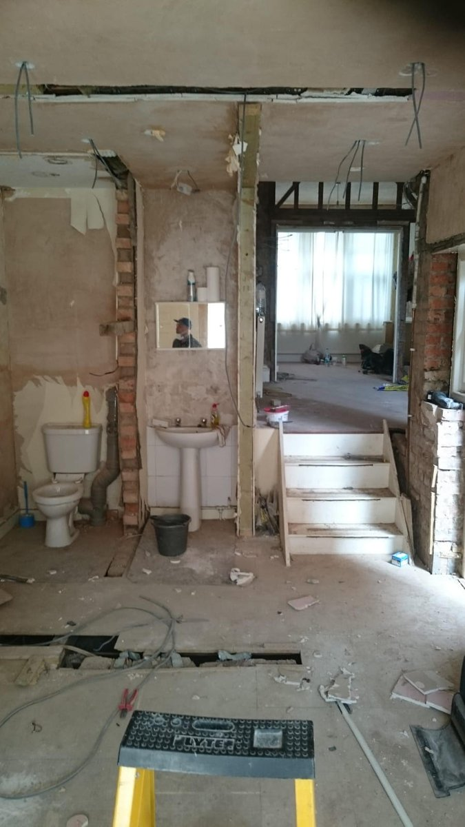 Electricianslondon Hashtag On Twitter Rewires Electrician Services London These Are Pictures Of A Full House Rewire All First Fix Wiring For Sockets Switches Spotlights And Kitchen Ring Circuit