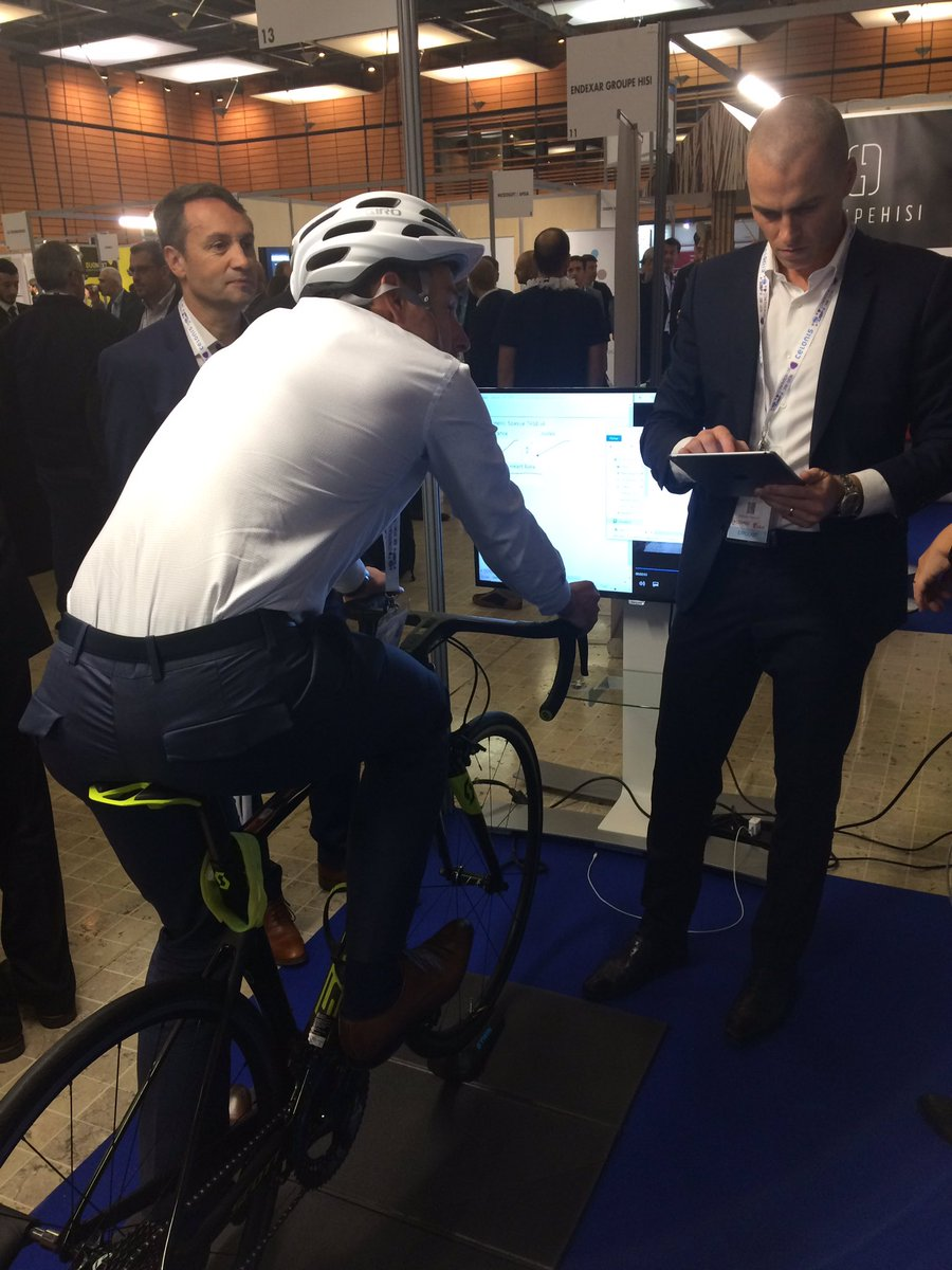Image for the Tweet beginning: #USF2018 Venez tester notre vélo