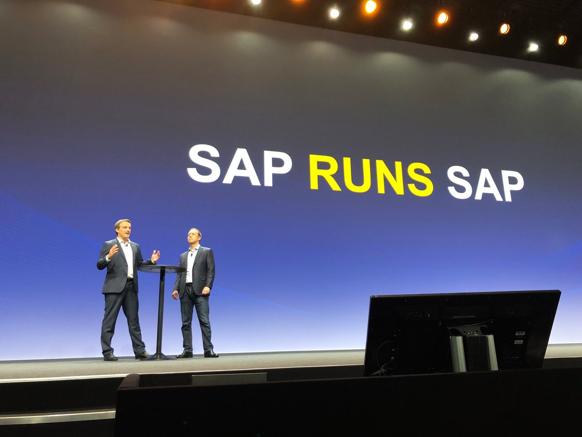 My pleasure to be on stage with our very own ⁦@aatzberger⁩ at a great #SAPCXLive event in the beautiful Barcelona today - Talking about how we leverage C/4HANA ourselves ⁦@SAP_CX⁩ #SAPrunsSAP #CustomerExperience<br>http://pic.twitter.com/wCKY62sIsE