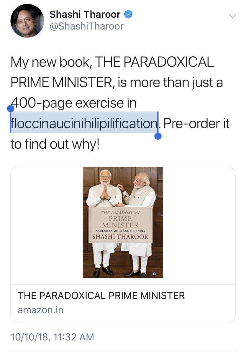 Tharoorism Hashtag On Twitter