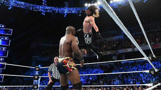 .@Sheltyb803 hoped to continue his resurgence when he faced @AJStylesOrg on #SDLive today, but a #PhenomenalForearm proved to be the difference maker! Photo