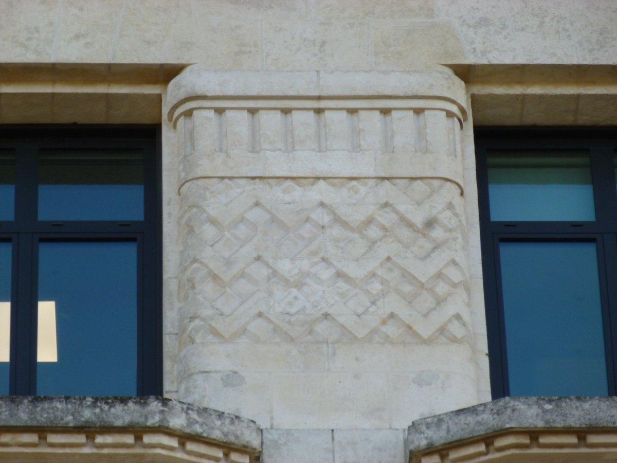 """lorient années 30 on twitter: """"détails du décor de la façade de la"""