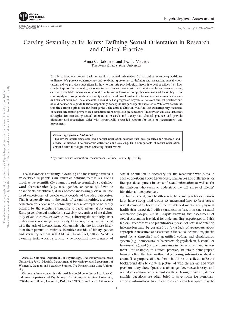 Sexual orientation psychology research articles