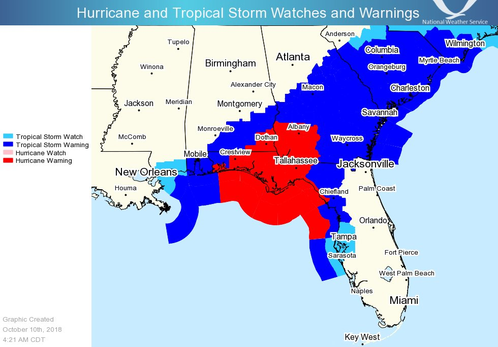 Map Of Southwest Georgia.National Hurricane Center On Twitter Hurricane Force Winds Are