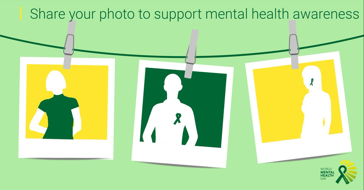 Wearing A Green Ribbon Draw On Your Selfie And Share Or Take Picture Of Something Tag It WorldMentalHealthDay Pictwitter Uo8LJIz4yF