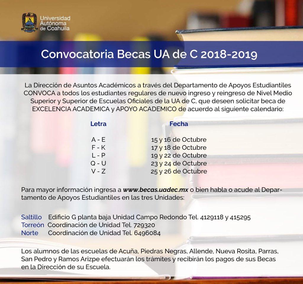 Calendario Ua.Uadec On Twitter Becas Uadec