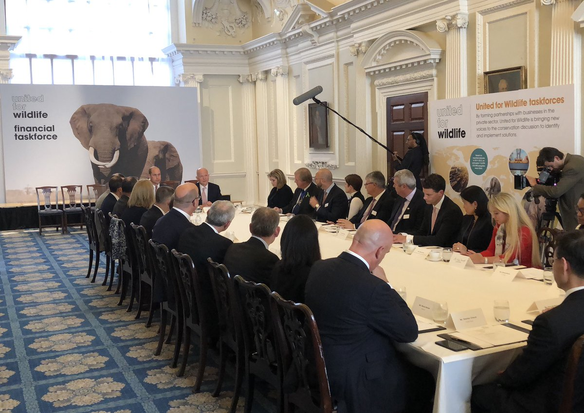 Wildlife traffickers brazenly exploit global financial systems to move the proceeds of their crimes. So I am delighted the financial sector today joins @united4wildlife by committing its much needed support to tackle this illegal trade #EndWildlifeCrime <br>http://pic.twitter.com/GGFz26Qp54