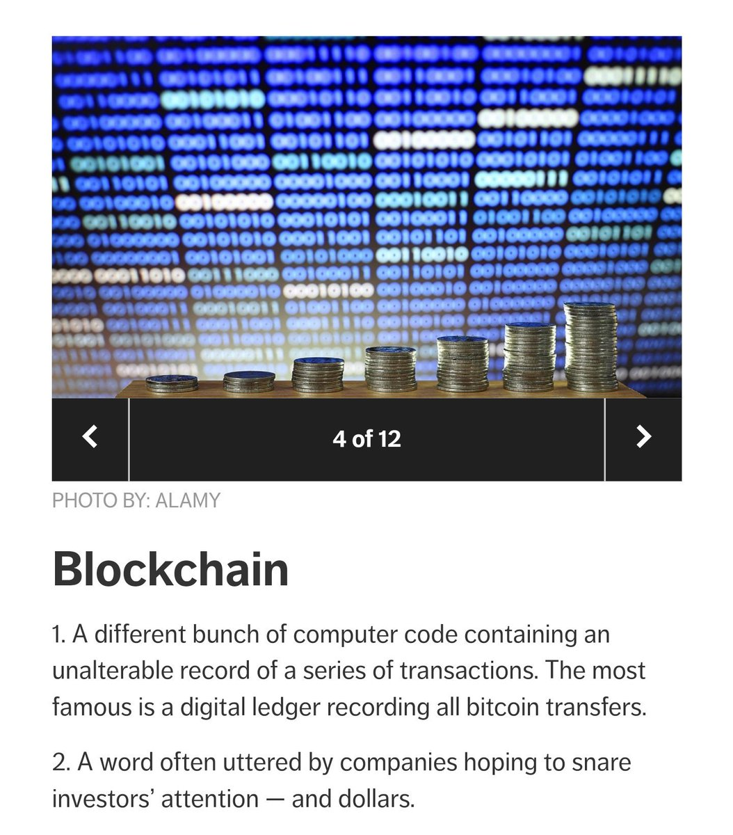 blockchain definitions from AARP magazine