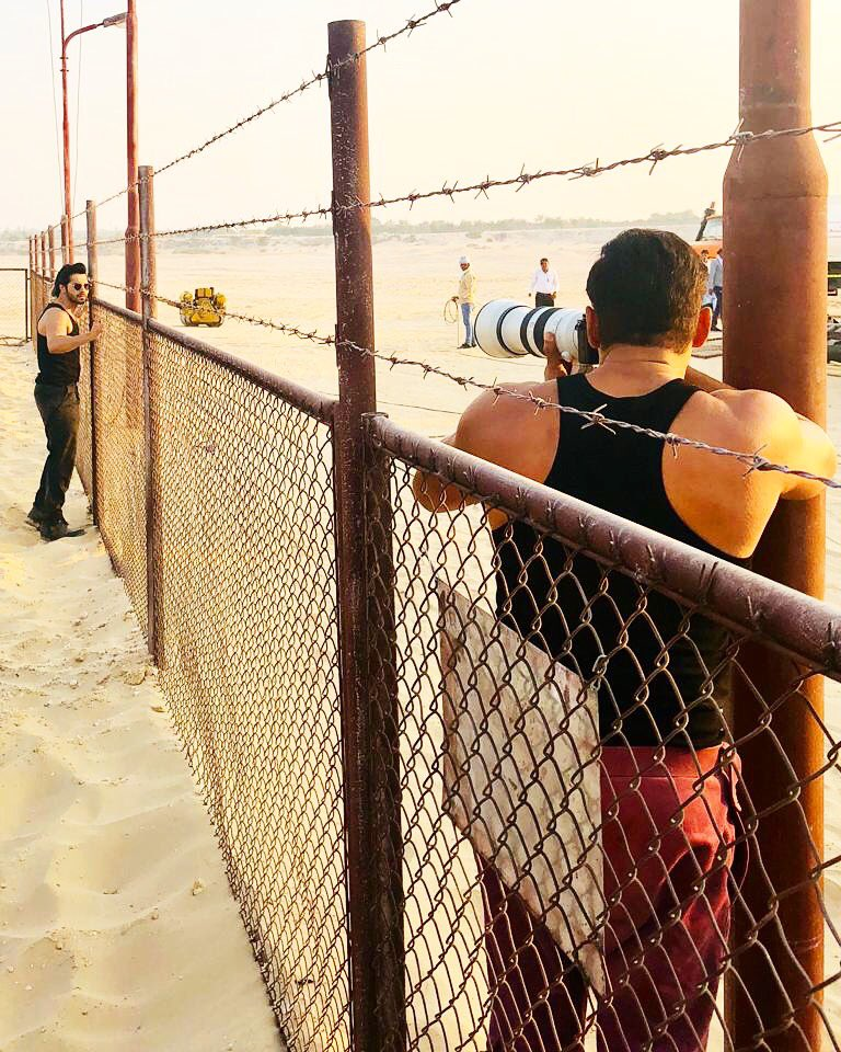 Shoot in a shoot.... @Varun_dvn @Bharat_TheFilm