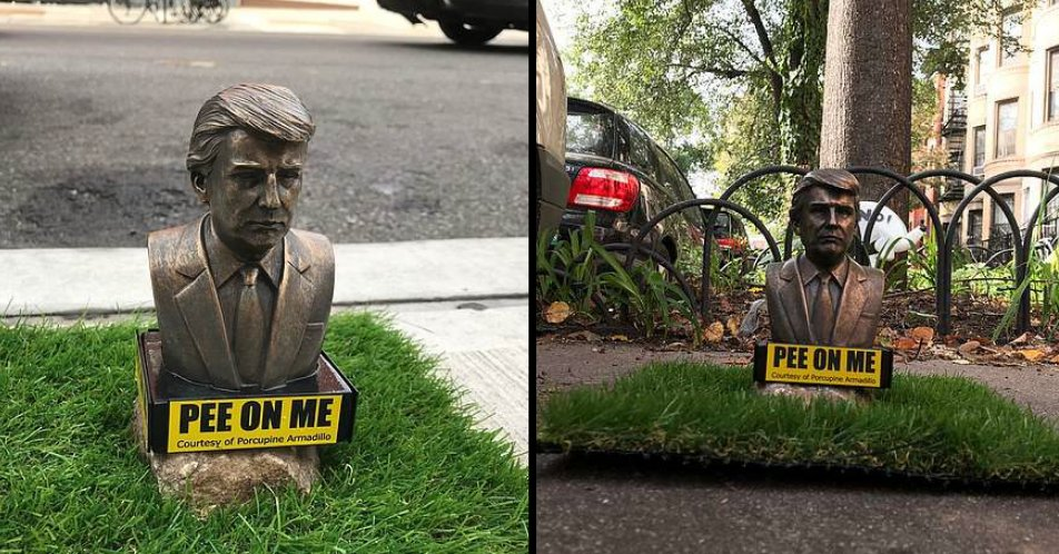 Tiny Trump statues asking dogs to 'pee on them' pop up all over New York... theladbible.com/news/politics-…