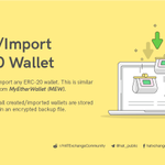Image for the Tweet beginning: Creating or Importing ERC20 wallets
