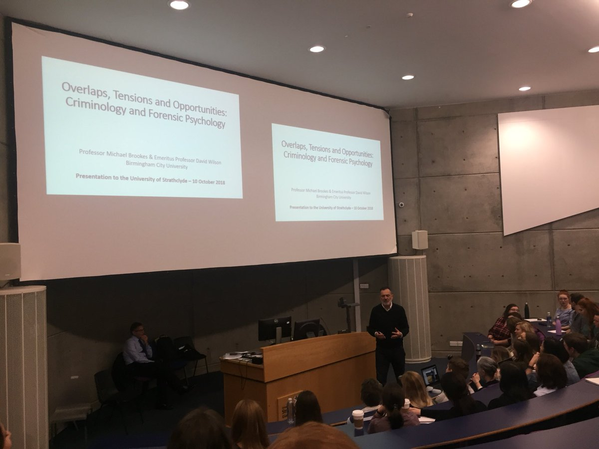 strathclyde psych on twitter our seminar on criminologyforensic psychology from profdavidwilson profmbrookes is underway straththemes