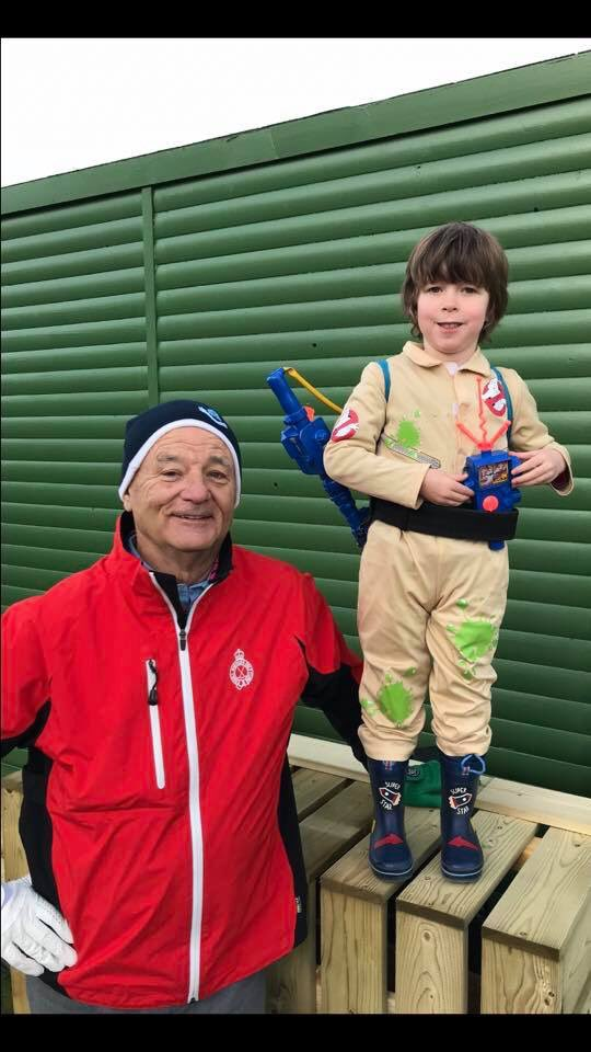 """""""Actual physical contact""""              Thank you to @BillMurray aka Dr Peter Venkman for making our little boys dream come true at the dunhill links on Saturday. @playmobil @Ghostbusters @GBW_AR @DarrenSuttie @LEGO_Group<br>http://pic.twitter.com/uU7HBr71nT"""