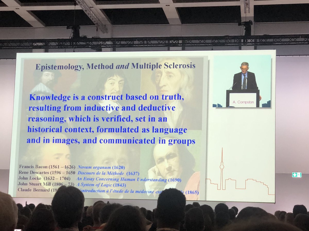 #ECTRIMS2018 kicks off with prof compston somehow taking us from descartes, to dogs making ATM withdrawals, to the future of robotic nurses, to the impending artificial intelligence singularity. what more is there to say? I think #MS was in there too somewhere... <br>http://pic.twitter.com/xfc8vfen6L