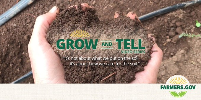 """""""It's not about what we put on the soil. It's about how we care for the soil."""" - Jen Aron, Oregon farmer #WednesdayWisdom #GrowAndTell Photo"""