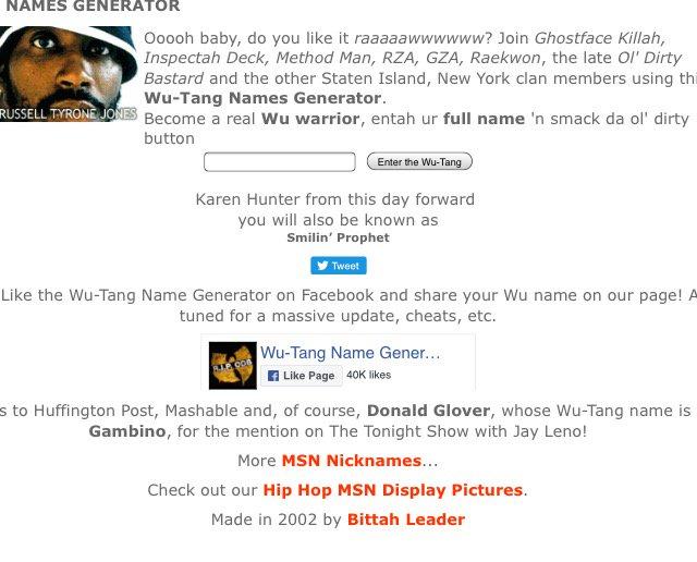 wutang clan name generator