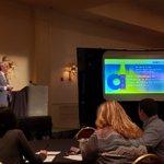 Image for the Tweet beginning: Dr Kai Baer presenting at