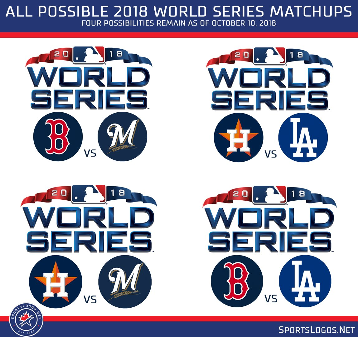 df74f9921 ... Brewers vs Astros Dodgers vs Red Sox Post:  http://news.sportslogos.net/2018/10/02/every-possible-2018-world-series-matchup/  …pic.twitter.com/OlRbMu3zU8