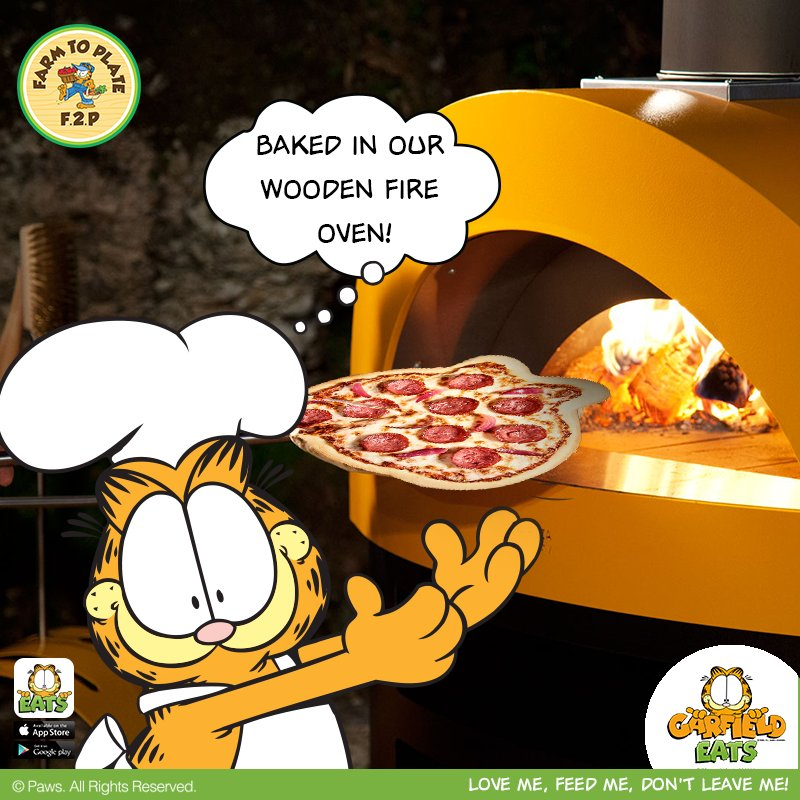 Garfieldeats On Twitter Taste Our Garfield Shaped Pizza Straight From Our Wooden Fire Oven Order Now From Our Garfieldeats App Or You Can Call Us On 971 4 5657 685 Garfieldeats Mydubai App
